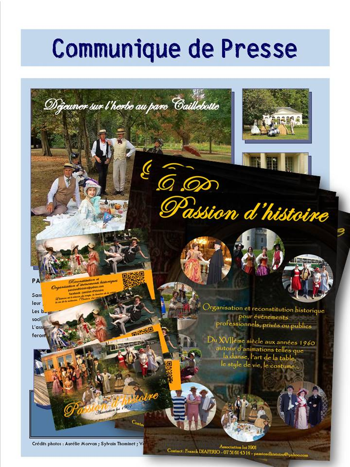 supports de communication association Passion d'histoire